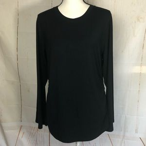Elie Tahari Laon Fitted Ruched Knit Top XL